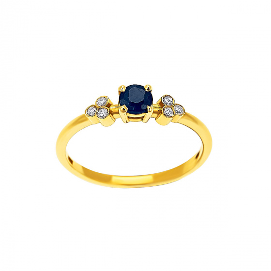 "Image of """"Triple Vintage Zaphire"" gold ring K14"""