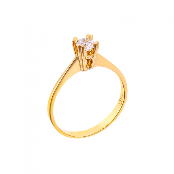 "Image of """"Eternity Plus 001"" gold engagement ring K14"""