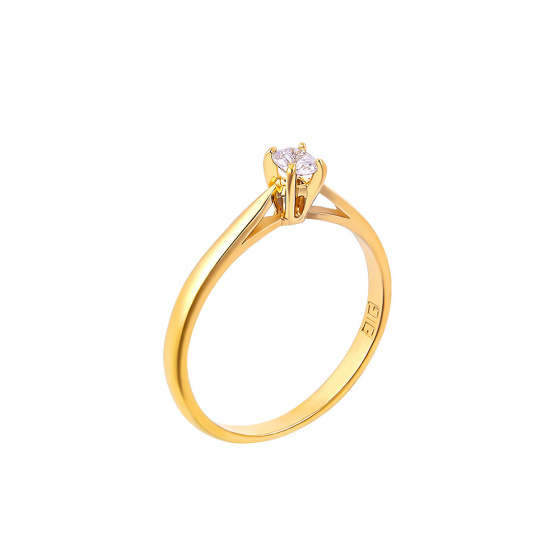 "Image of """"Eternity Plus 003"" gold engagement ring K14"""