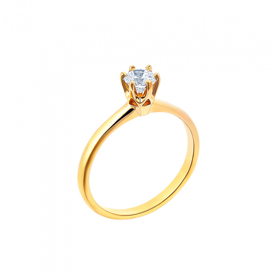 "Image of """"Eternity Plus 007"" gold engagement ring K14"""