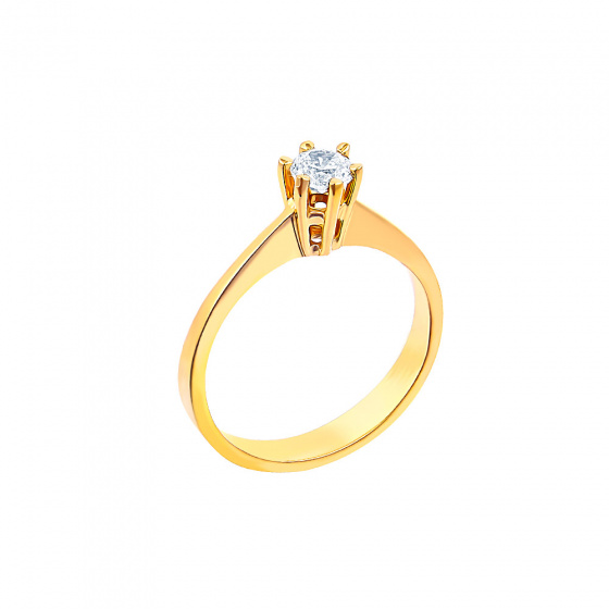 "Image of """"Eternity Plus 008"" gold engagement ring K14"""