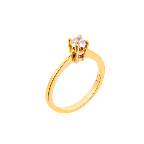 "Image of """"Eternity Plus 011"" gold engagement ring K14"""