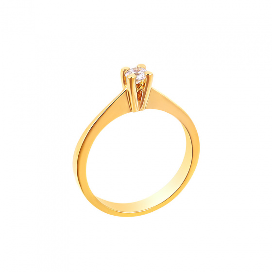 "Image of """"Eternity Plus 012"" gold engagement ring K14"""