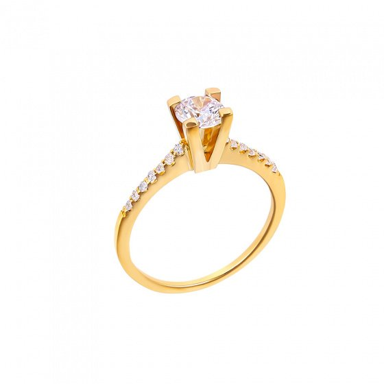 "Image of """"Eternity Plus 013"" gold engagement ring K14"""