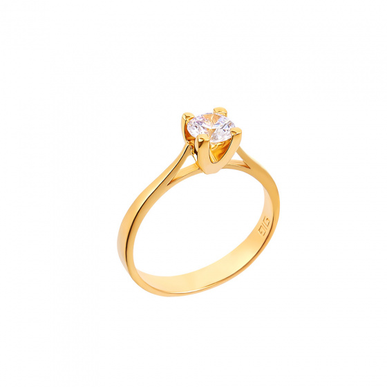 "Image of """"Eternity Plus 015"" gold engagement ring K14"""