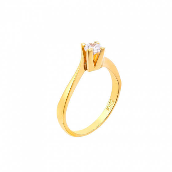 "Image of """"Eternity Plus 018"" gold engagement ring K14"""