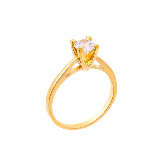 "Image of """"Eternity Plus 020"" gold engagement ring K14"""