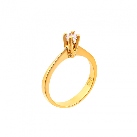 "Image of """"Eternity Plus 024"" gold engagement ring K14"""