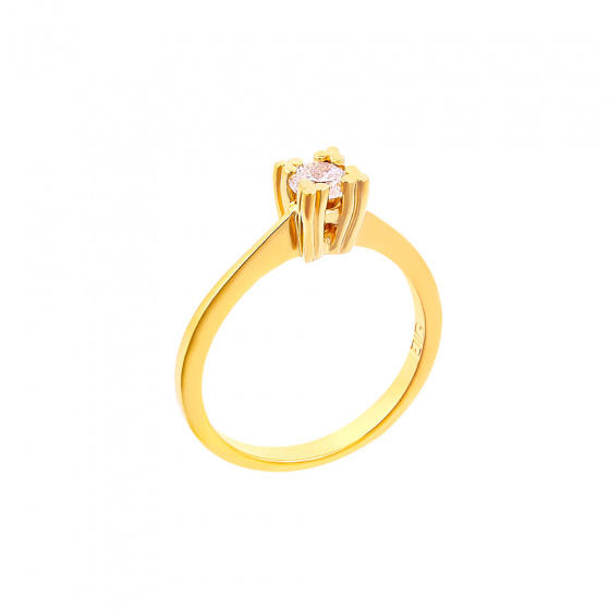 "Image of """"Eternity Plus 026"" gold engagement ring K14"""