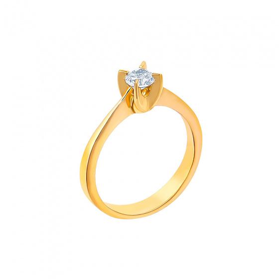 "Image of """"Eternity Plus 027"" gold engagement ring K14"""