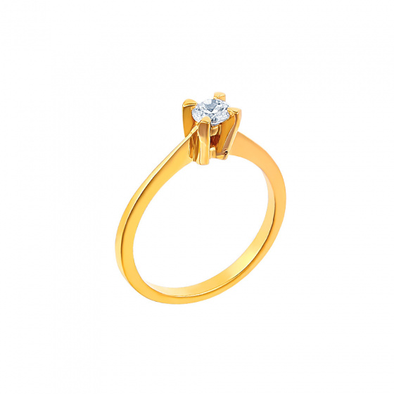 "Image of """"Eternity Plus 030"" gold engagement ring K14"""