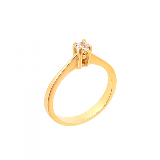 "Image of """"Eternity Plus 032"" gold engagement ring K14"""