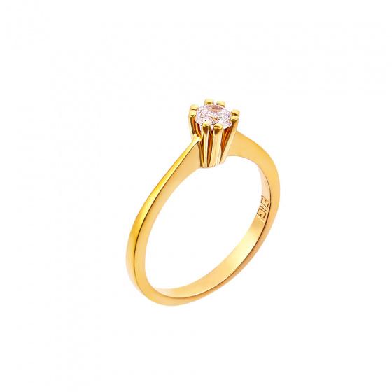 "Image of """"Eternity Plus 033"" gold engagement ring K14"""