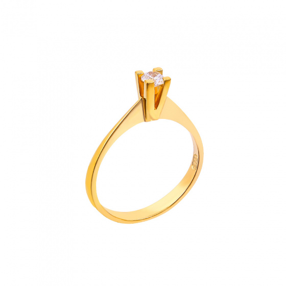 "Image of """"Eternity Plus 034"" gold engagement ring K14"""