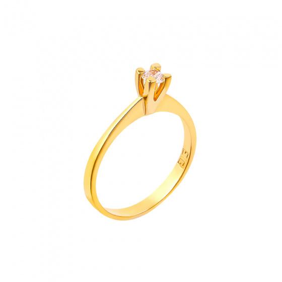 "Image of """"Eternity Plus 035"" gold engagement ring K14"""