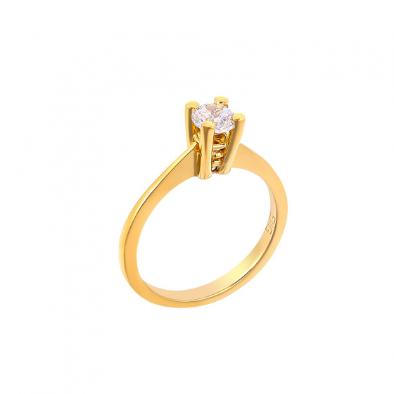 "Image of """"Eternity Plus 039"" gold engagement ring K14"""