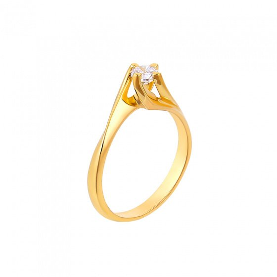 "Image of """"Eternity Plus 042"" gold engagement ring K14"""