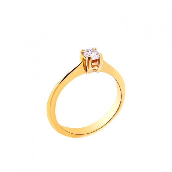 "Image of """"Eternity Plus 044"" gold engagement ring K14"""