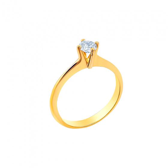 "Image of """"Eternity Plus 046"" gold engagement ring K14"""
