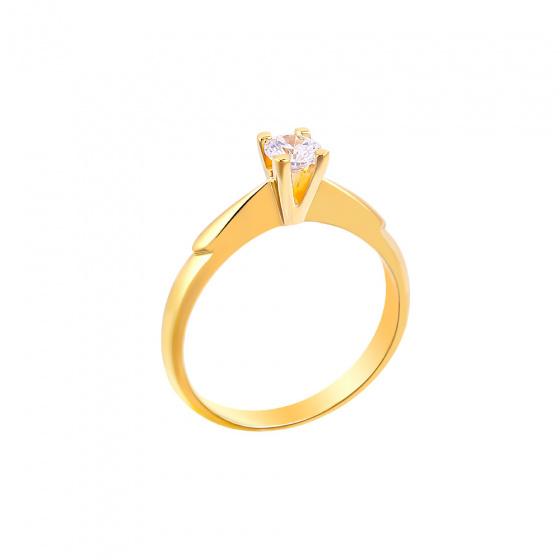 "Image of """"Eternity Plus 047"" gold engagement ring K14"""