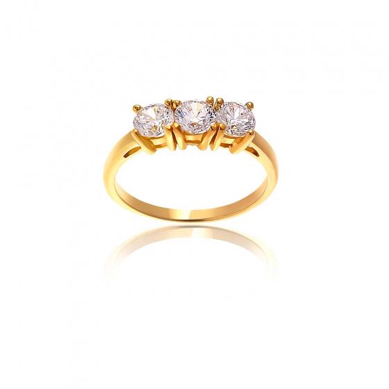 """Image of """"""""Triple Shine"""" gold ring K14"""""""