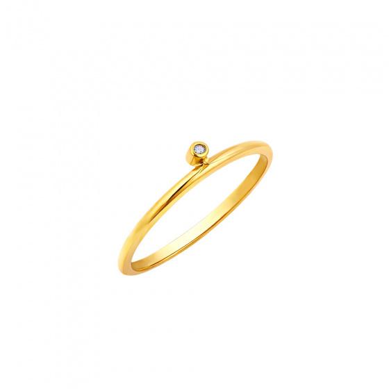"Image of """"Discreet"" gold ring K14"""