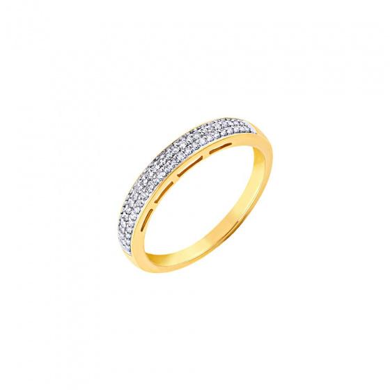 """Εικόνα του """"Χρυσό δαχτυλίδι Κ14 με μπριγιάν, BRI17929"""""""