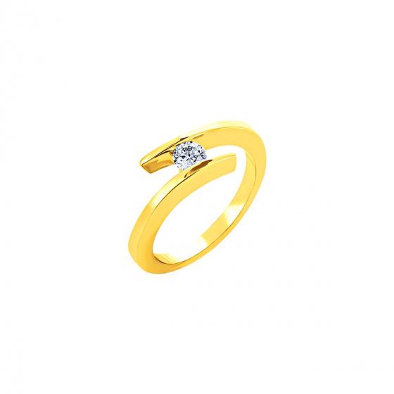 """Εικόνα του """"Χρυσό δαχτυλίδι Κ18 """"Fabulous"""" με μπριγιάν VS"""""""