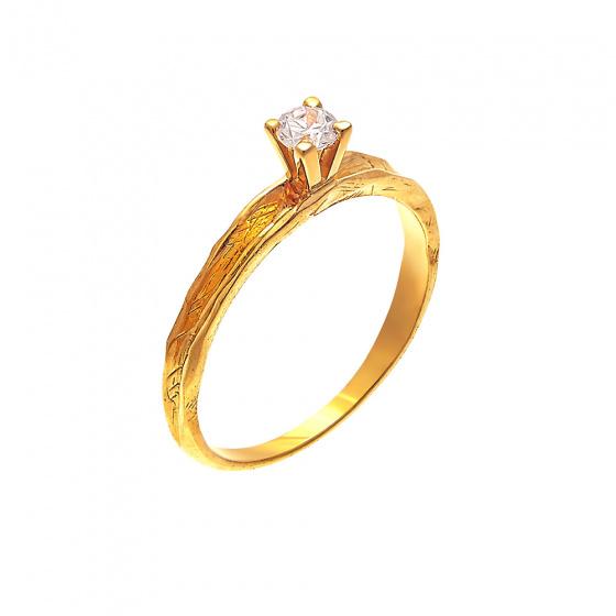 """Image of """"""""Shard of Dreams"""" gold ring K9"""""""