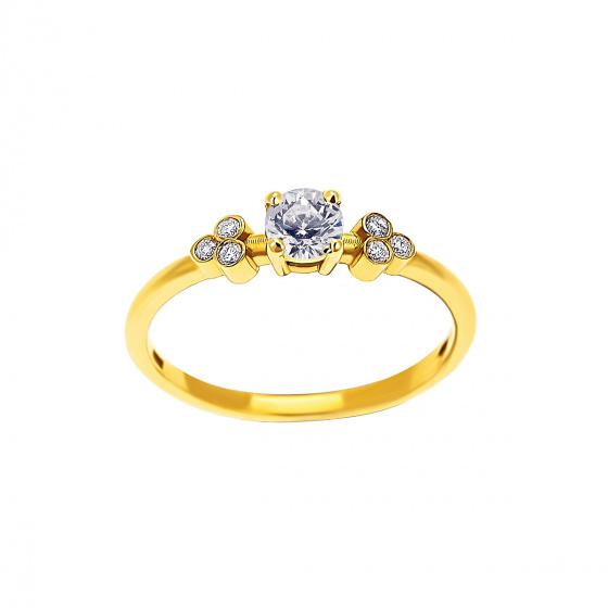 "Image of """"Triple Vintage White"" gold ring K9"""