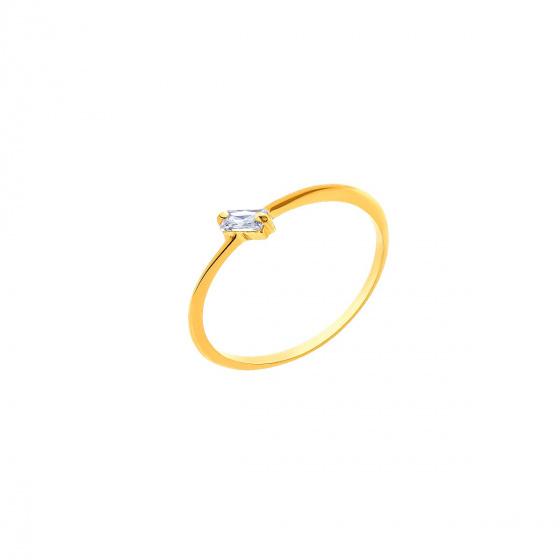 """Image of """"""""Baguette"""" gold ring K9"""""""