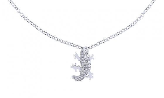 "Image of """"Shiny Lizard"" silver foot chain"""