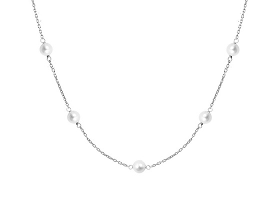"Image of """"Pearly Light"" silver anklet"""