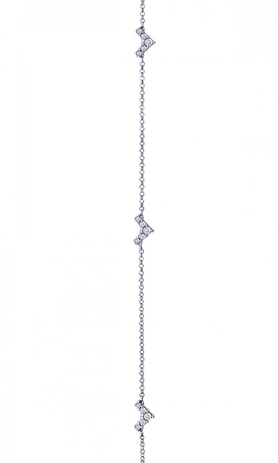 """Image of """"""""Victorious"""" silver anklet"""""""