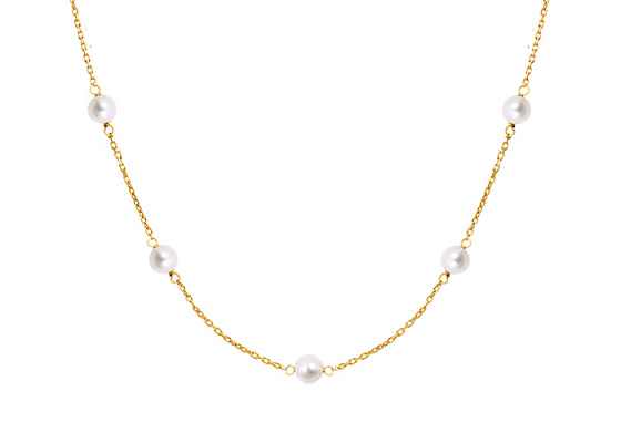 "Image of """"Pearly Light"" silver anklet gold plated"""