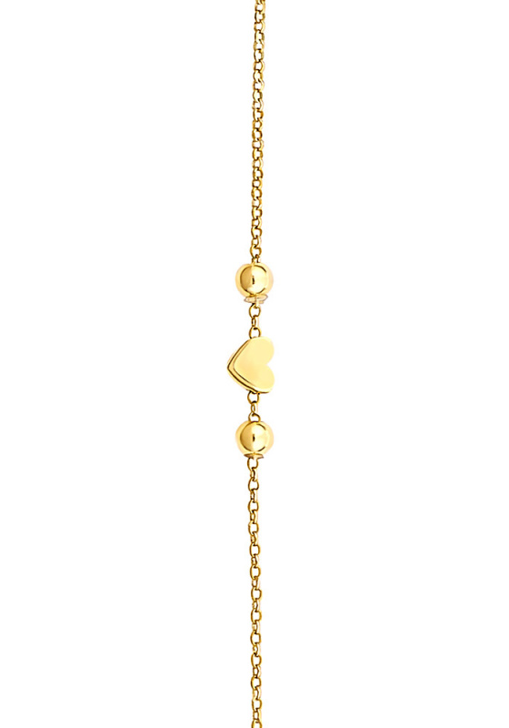 """Image of """"""""Festive Heart"""" silver anklet gold plated"""""""