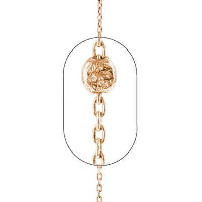 "Image of """"Meteor Falls"" silver foot chain rose gold plated"""