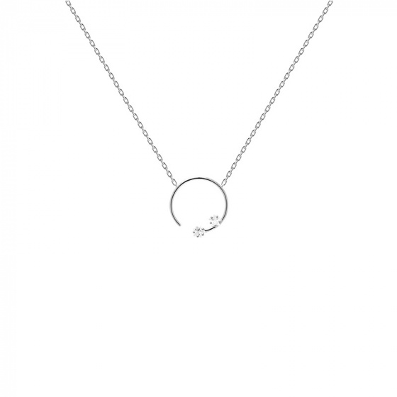 "Image of ""PDPAOLA ""Vela"" silver necklace"""