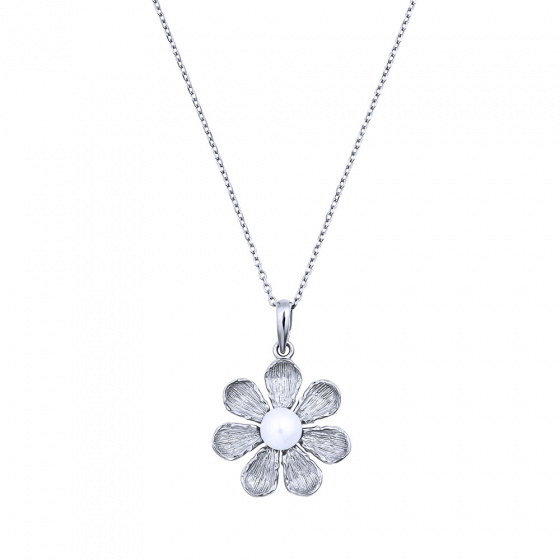 """Image of """"""""Margerie"""" silver necklace"""""""