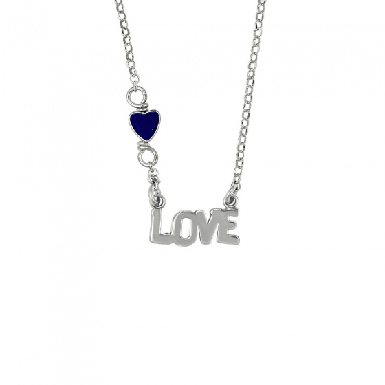 """Image of """"Pendant LOVE with Agate, silver 925"""""""