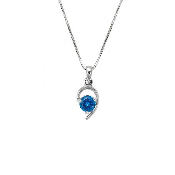 "Image of """"Ocean's Tear"" silver pendant"""