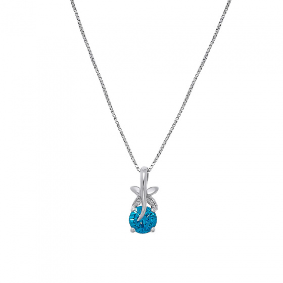 "Image of """"Turquoise flower"" silver pendant"""