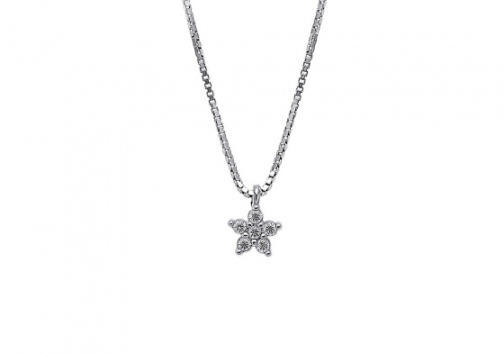 "Image of """"White Star"" silver necklace"""