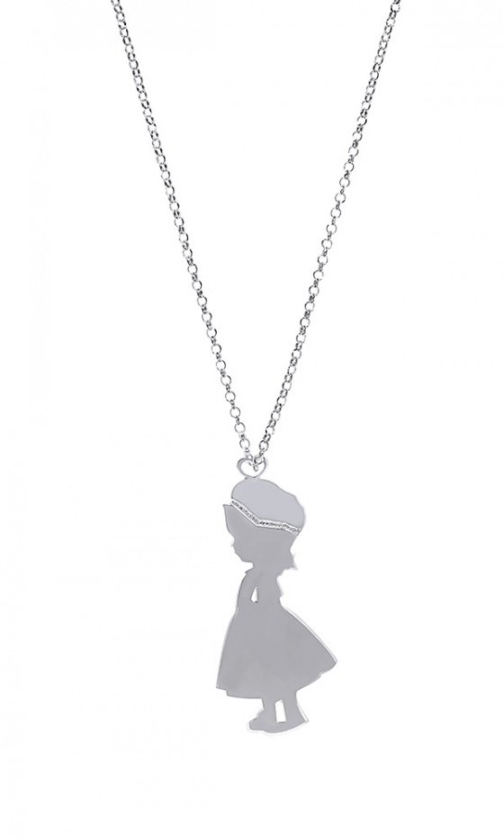 "Image of ""Lovely Girl silver necklace"""