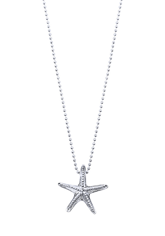 "Image of """"Starfish #2"" silver necklace"""