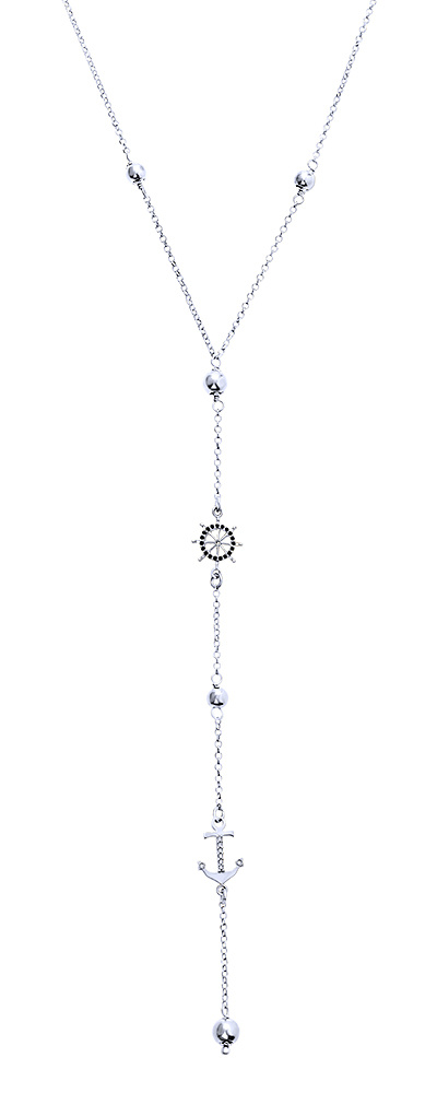 """Image of """"""""Sea Queen"""" silver necklace"""""""