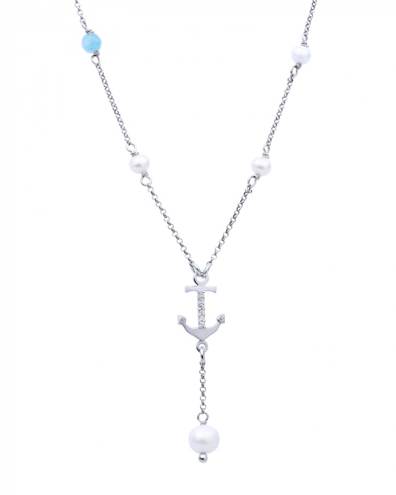 "Image of """"Mistress of the Sea"" silver necklace"""