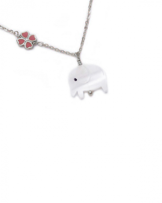 "Image of """"Lovely Elephant"" silver children's necklace"""