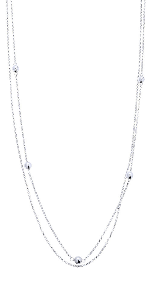 """Image of """"""""Astral Spheres"""" silver necklace"""""""