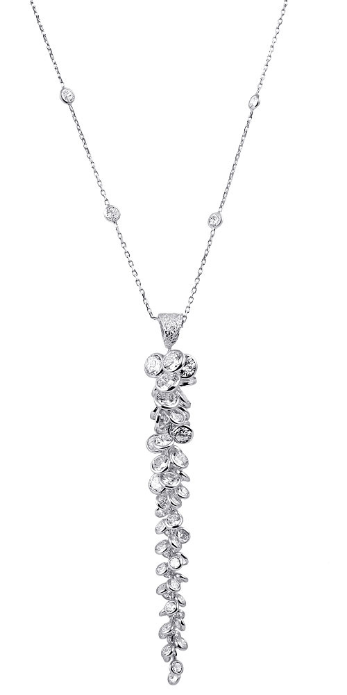 """Image of """"""""Whispers of Demeter"""" silver necklace"""""""